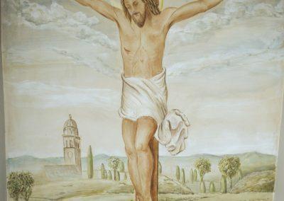 Cristo in affresco.